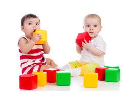 boys building blocks